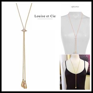 ⭐️⭐️ LOUISE ET CIE CRYSTAL TASSEL PEARL NECKLACE